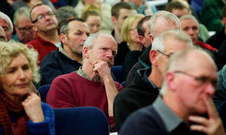 A public meeting for a proposed radioactive material waste facility in Maryport, West Cumbria