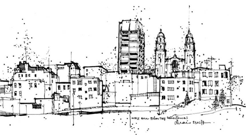 first-hill-sketch
